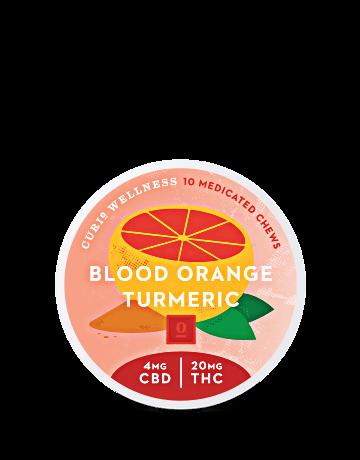 Blood Orange Turmeric Chews (THC-Dominant)